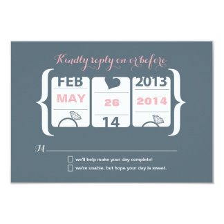 Slot Machine Wedding RSVP Card
