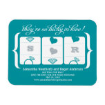 Slot Machine Wedding Save the Date Rectangle Magnet