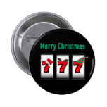 Slot Player 777 Merry Christmas Magnet Pins