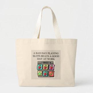 slot players lucky art jumbo tote bag