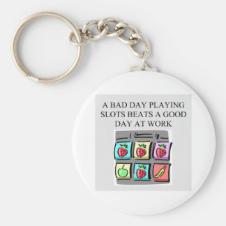 slot players lucky art basic round button keychain