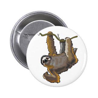 sloth 2 inch round button