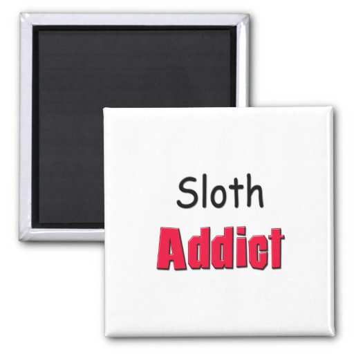 Sloth Addict Refrigerator Magnets