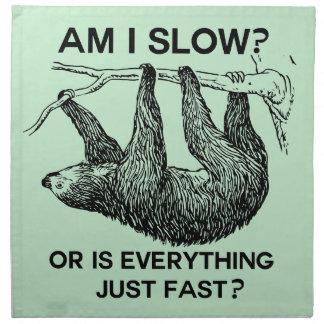 Sloth am I slow? Cloth Napkin