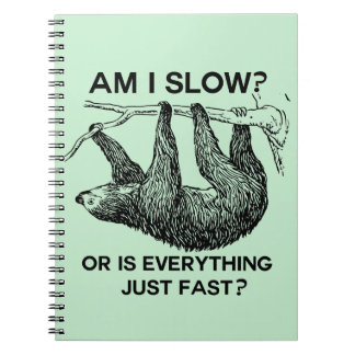 Sloth am I slow? Notebook