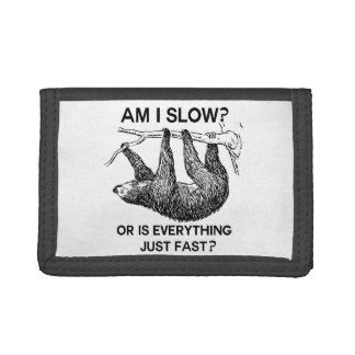 Sloth Am I Slow? Tri-fold Wallets
