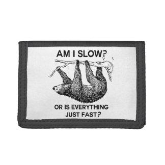 Sloth Am I Slow? Tri-fold Wallets