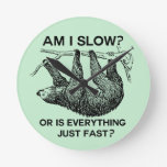 Sloth am I slow? Wall Clocks
