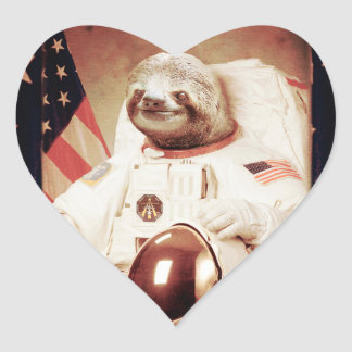 Sloth astronaut-sloth-space sloth-sloth gifts heart sticker