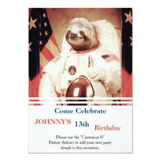 Sloth astronaut-sloth-space sloth-sloth gifts invitation