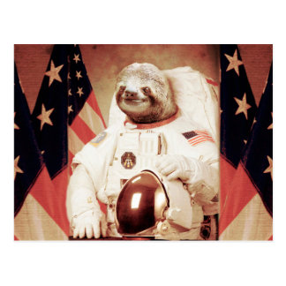 Sloth astronaut-sloth-space sloth-sloth gifts postcard