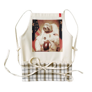 Sloth astronaut-sloth-space sloth-sloth gifts zazzle HEART apron