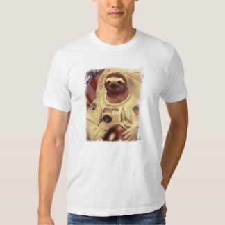 Sloth Astronaut T Shirts