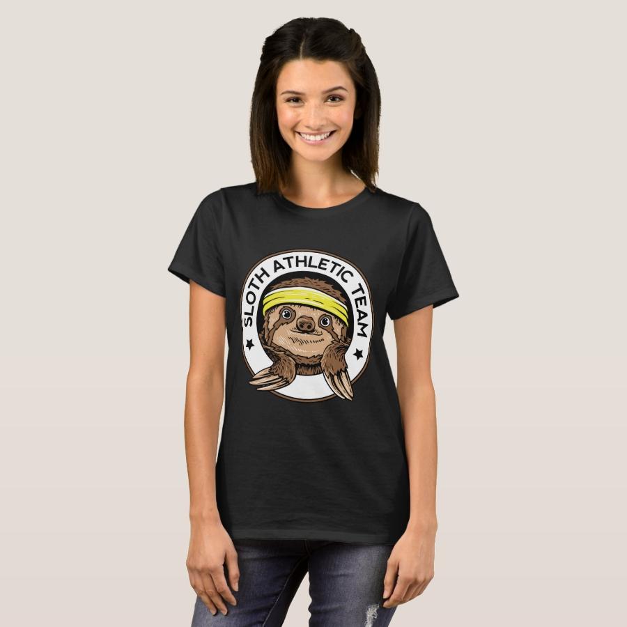 Sloth Athletic Team Slow Sleepy Animals T Shirt - Best Selling Long-Sleeve Street Fashion Shirt Designs