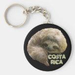 Sloth Basic Round Button Keychain