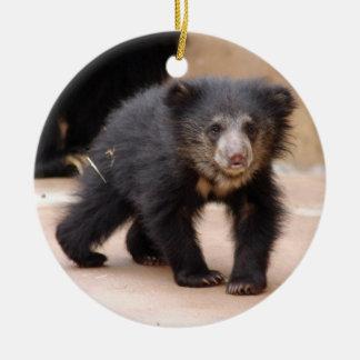 Sloth Bear Cub Christmas Ornament