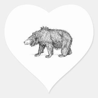 Sloth Bear Heart Sticker