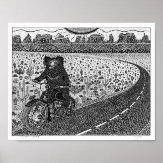 Sloth Bear on Motorbike #2 Poster