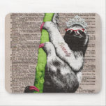 Sloth Beauty Queen Mouse Pad