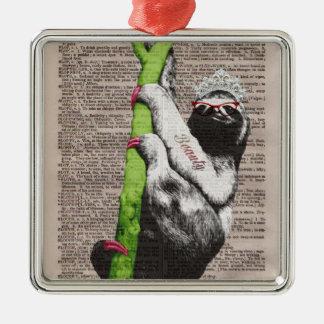 Sloth Beauty Queen Ornament