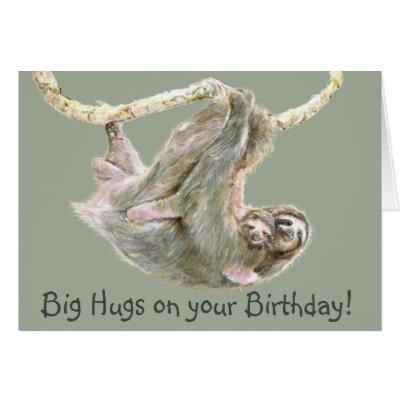 release your inner sloth birthday card  zazzle, Birthday card