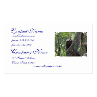 Sloth Climbing Tree Double-Sided Standard Business Cards (Pack Of 100)