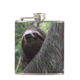Sloth Climbing Tree Hip Flask