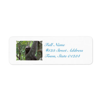 Sloth Climbing Tree Label