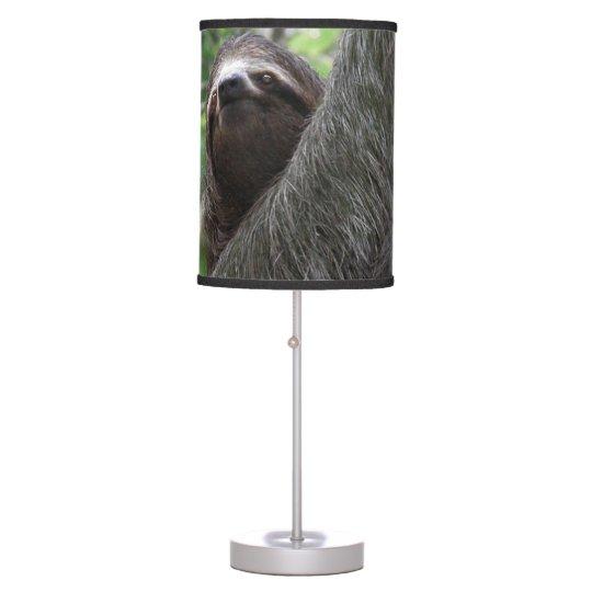 Sloth Climbing Tree Table Lamp Zazzle Com