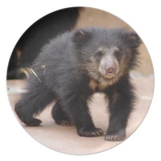 sloth-cub10x10 platos de comidas