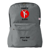 Sloth Doing Karate Humorous Martial Arts American Apparel™ Backpack