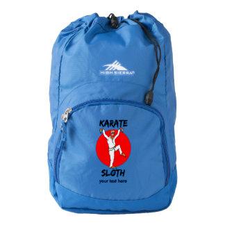 Sloth Doing Karate Humorous Martial Arts Backpack
