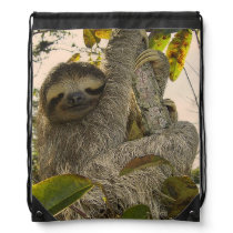 sloth drawstring backpack
