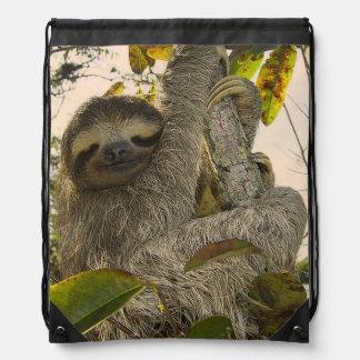 sloth drawstring backpack