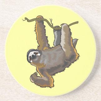 sloth drink coaster