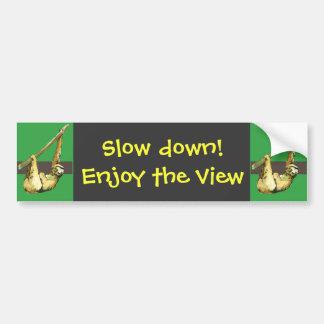 Sloth -enjoy the view bumper sticker