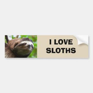 Sloth Face Bumper Sticker