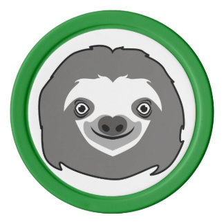 Sloth Face Poker Chip Set
