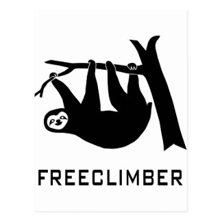 sloth faultier animal pútrido climber freeclimber  tarjetas postales