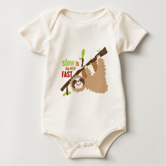 Sloth Gear - Slow is the New Fast Baby Bodysuit