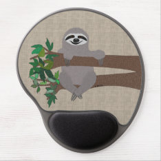 Sloth Gel Mouse Pad at Zazzle