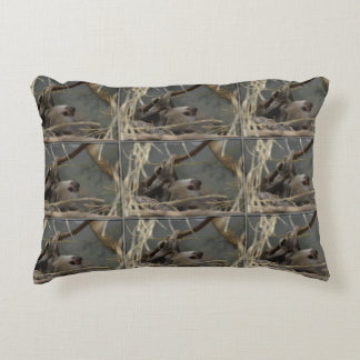 Sloth Hanging from a Branch Accent Pillow