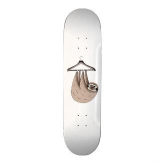 sloth hanging on hanger skateboard deck
