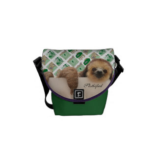 Sloth hanging out bag... courier bags