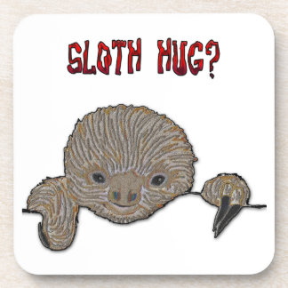 Sloth Hug Baby Sloth Beverage Coaster