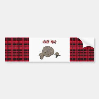 Sloth Hug Baby Sloth Bumper Sticker