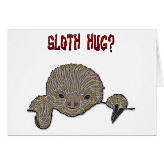 Sloth Hug Baby Sloth Card