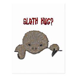 Sloth Hug Baby Sloth Postcard