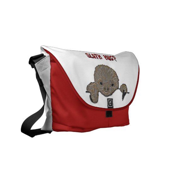 Sloth Hug Baby Sloth Sketch Courier Bag