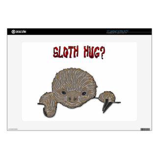 "Sloth Hug Baby Sloth Sketch Skin For 15"" Laptop"